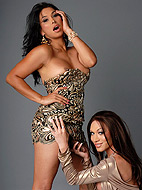 Vaniity and mia isabella. Super hot tgirls Vaniity and Mia blowing each other's juicy cocks
