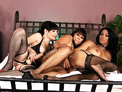 Vaniity danielle and ava. Horny Vaniity have sex in a naughty 3some train