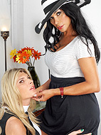 Playing with ms angelina. Naughty Vaniity playing with TS Angelina